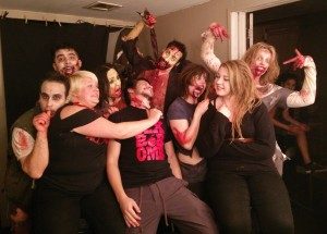 Make up team and the playful zombies of Lost Refuge - Sept 2014
