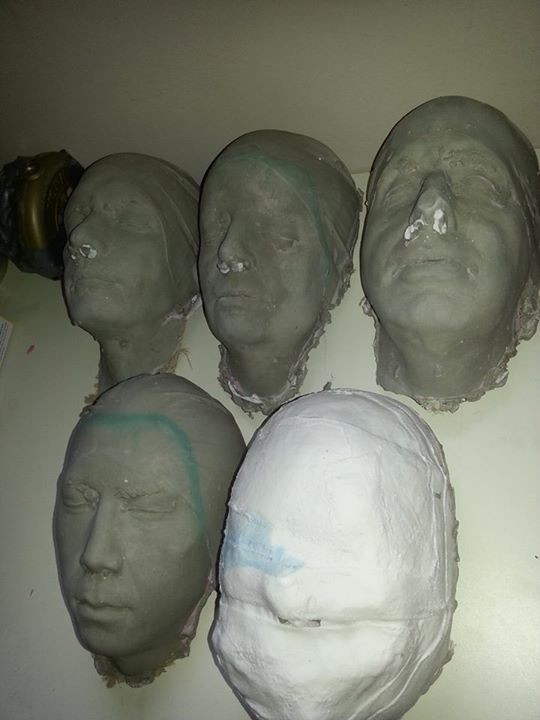 2015 March 29 - Zombie plaster cast party - before the finishing touches